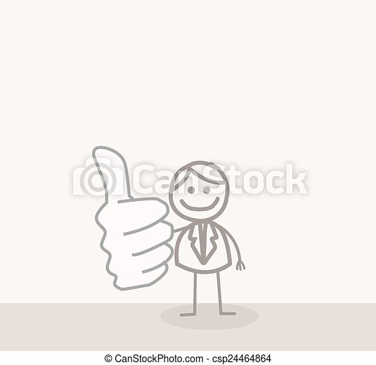 Business Man Thumb Up - csp24464864