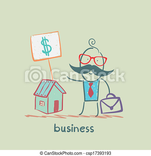 business man to sell house - csp17393193