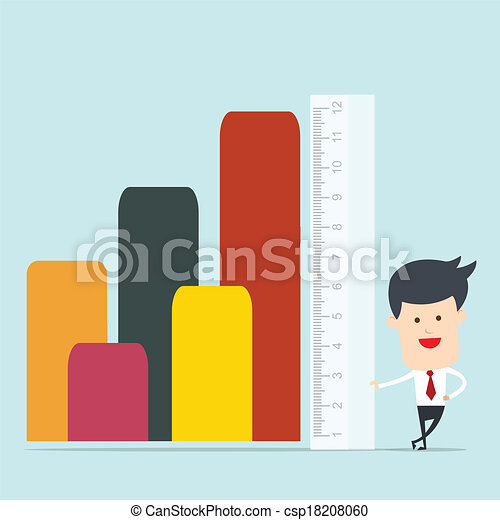 Business man use ruler measure - csp18208060