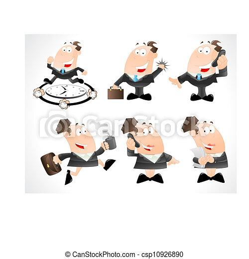 Business Man Vector Cartoons - csp10926890