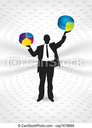 Business man weighing - csp7476669