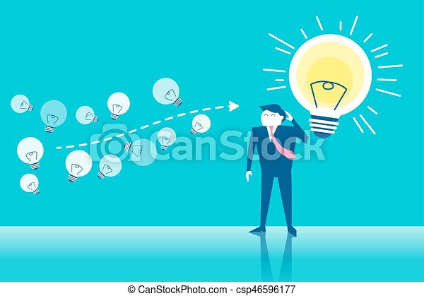 business man with bright - csp46596177