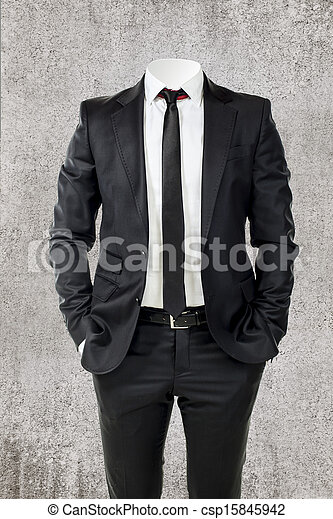 business man without head  - csp15845942