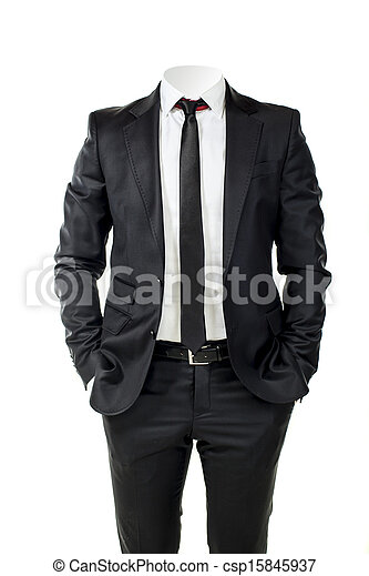 business man without head  - csp15845937