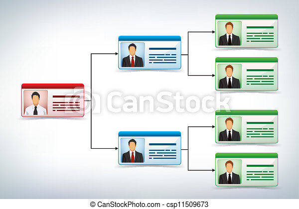 Business management tree template - csp11509673