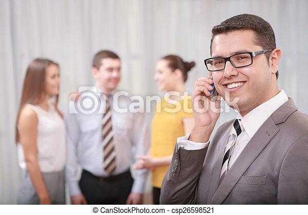 Business manager at the meeting - csp26598521