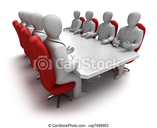 Business meeting 3D concept - csp7499953