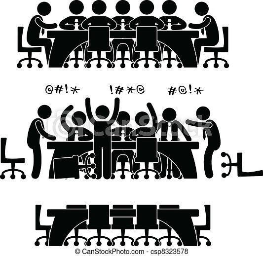 Business Meeting Discussion Icon - csp8323578