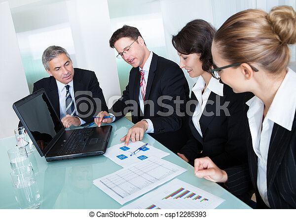 Business meeting for statistical analysis - csp12285393