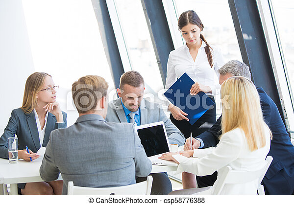 Business meeting in office - csp58776388