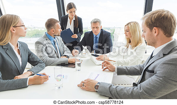 Business meeting in office - csp58778124