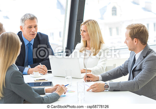 Business meeting in office - csp58778126