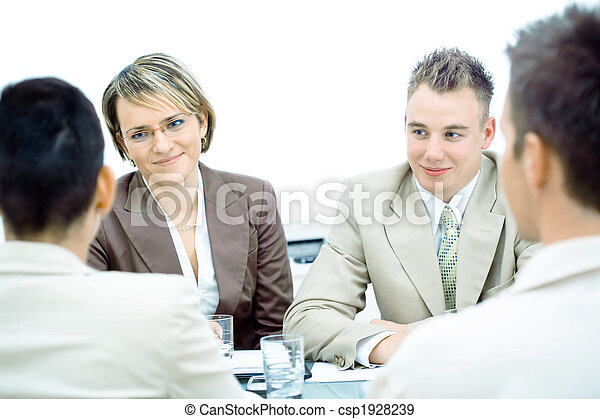 Business meeting isolated - csp1928239