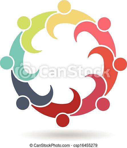 Business Meeting Reunion 8 Logo - csp16455279