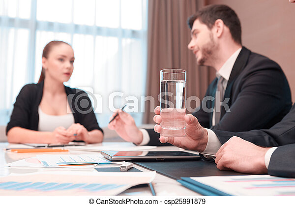 Business meeting with colleagues - csp25991879