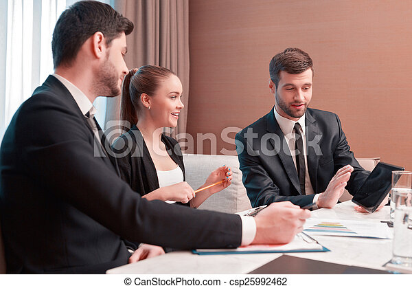 Business meeting with colleagues - csp25992462