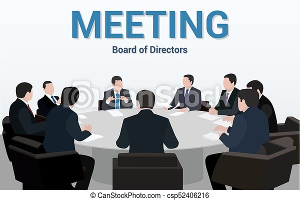 Superieur Business Meeting.A Group Of Businessmen Is Negotiating For A Round Table    Csp52406216