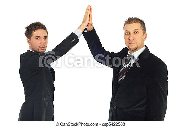 Business men high five - csp5422588