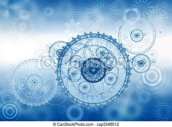 business metaphor, ancient mechanism, clockwork - csp3348512