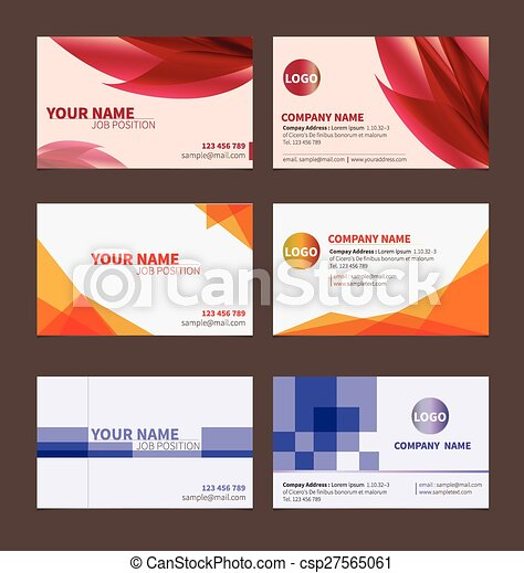 Business name card template for business card on brown background business name card csp27565061 flashek Image collections