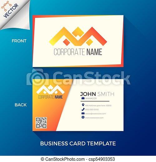 Business name card template in creative modern and clean clipart business name card template csp54903353 flashek Choice Image
