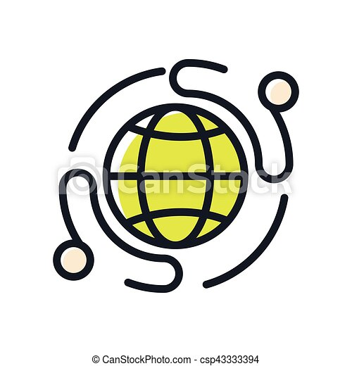 business network icon color eps vectors search clip art rh canstockphoto com network clipart png network clipart library