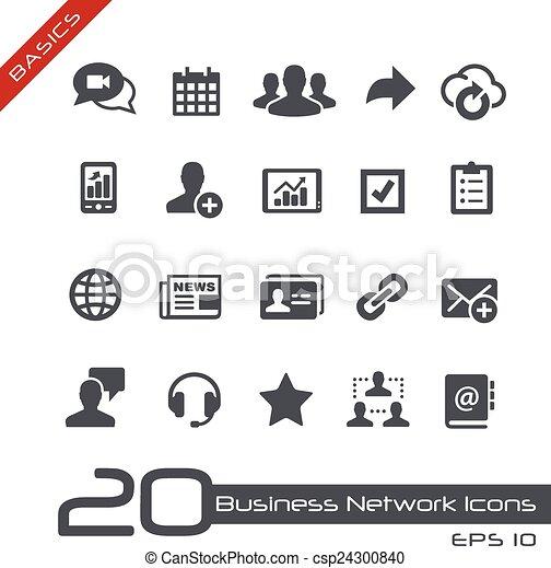 Business Network Icons // Basics - csp24300840