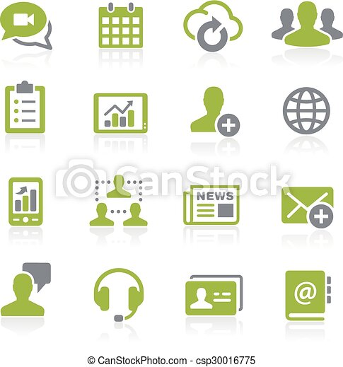 Business Network Icons. Natura - csp30016775