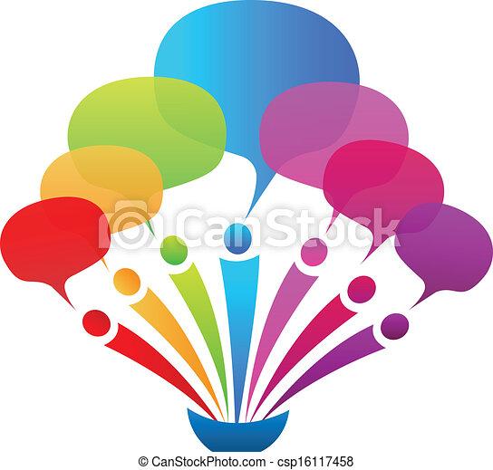 Business network speech bubbles - csp16117458