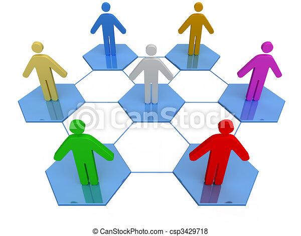 Business Network  - csp3429718