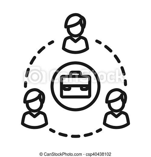 Business Network Vector Illustration Design