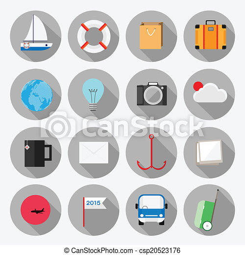 Business office elements icons vect - csp20523176