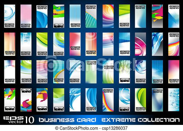 business, ollection, fond, constitué, cartes - csp13286037