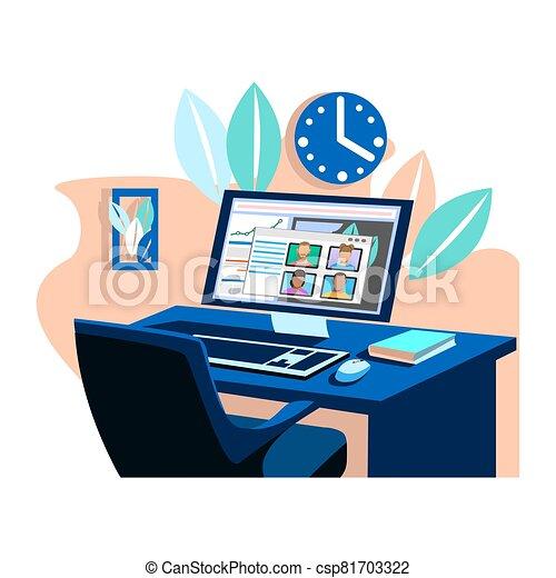business online meeting - csp81703322