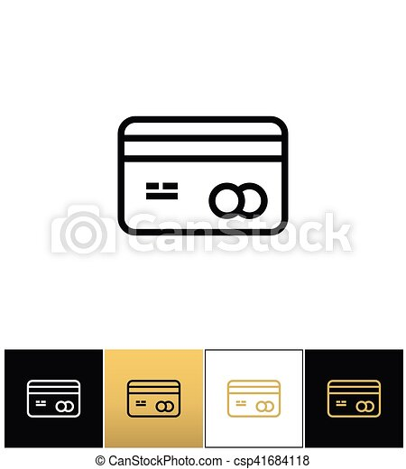 Business or credit card vector icon business card or credit card business or credit card vector icon reheart Images