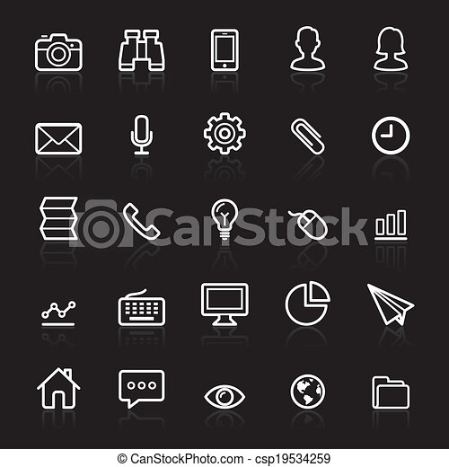 Business outline icons set 1. - csp19534259