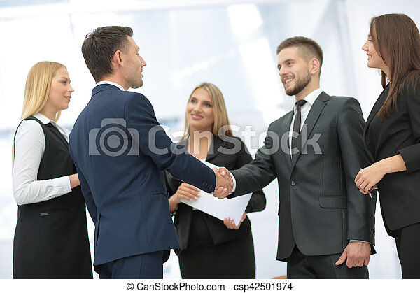 Business partner greeting each other with handshake picture business partner greeting each other with handshake csp42501974 m4hsunfo