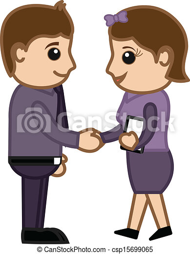 Business Partners - Cartoons Vector - csp15699065