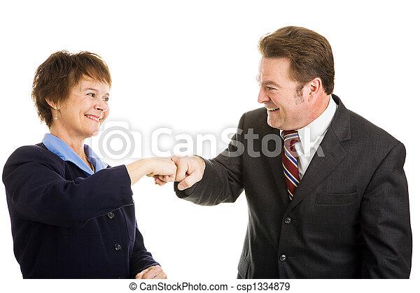Business Partners Fist Bump - csp1334879