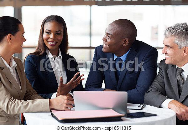 business partners having meeting - csp16511315