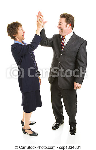 Business Partners High Five - csp1334881