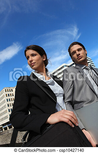 business partners in the city - csp10427140