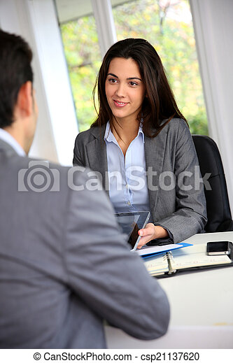 Business partners meeting for agreement - csp21137620