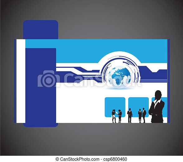 business people and world website - csp6800460