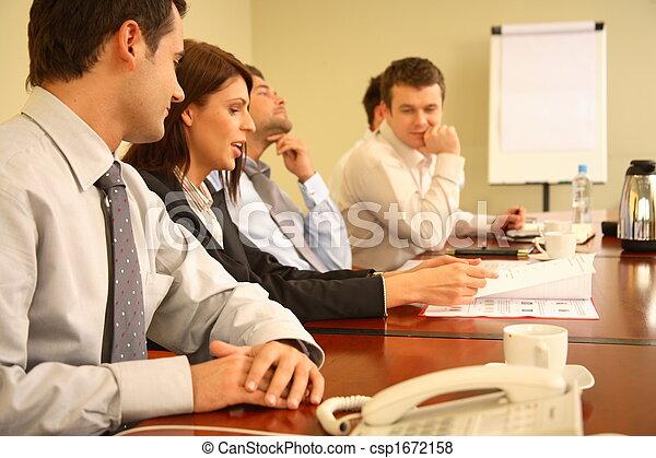 business people at informal meeting - csp1672158