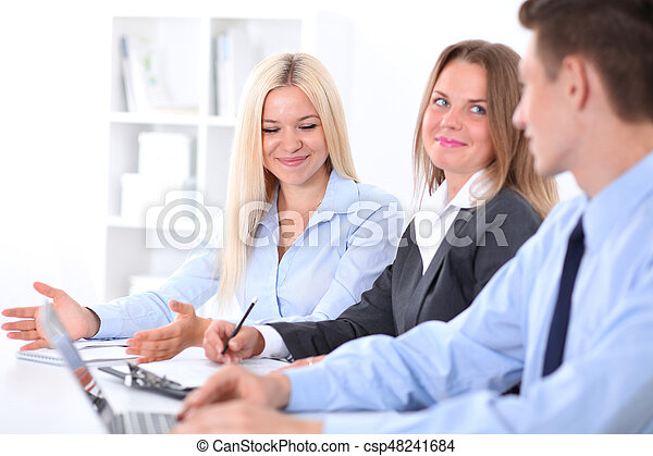 Business people at meeting - csp48241684