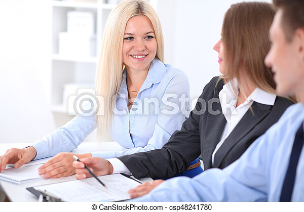 Business people at meeting - csp48241780