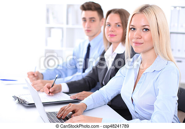 Business people at meeting - csp48241789