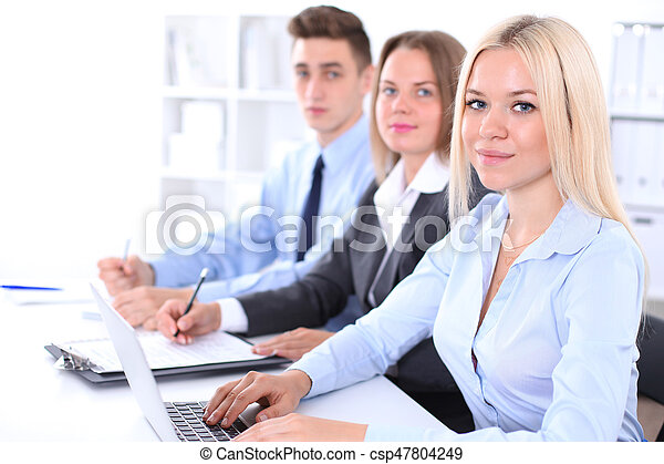 Business people at meeting - csp47804249