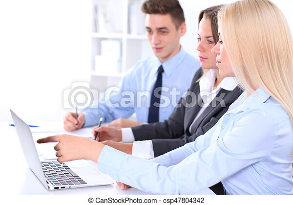 Business people at meeting - csp47804342
